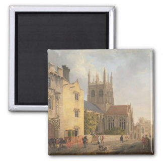 Merton College, Oxford, 1771 (oil on canvas) 2 Inch Square Magnet