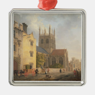 Merton College, Oxford, 1771 (oil on canvas) Metal Ornament