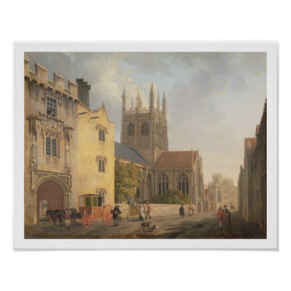 Merton College, Oxford, 1771 (oil on canvas) Poster