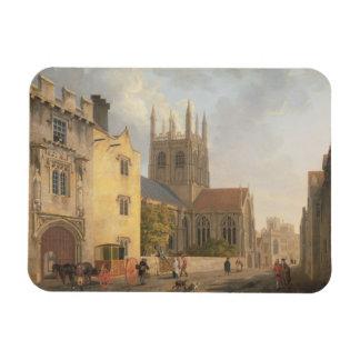 Merton College, Oxford, 1771 (oil on canvas) Rectangular Photo Magnet