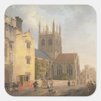 Merton College, Oxford, 1771 (oil on canvas) Square Sticker