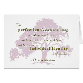 Merton quote perfection 3 greeting card