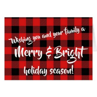 """Mery and Bright"" Holiday Christmas Cards"