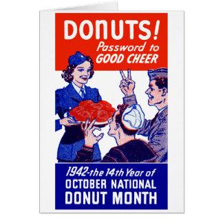 Mes 1942 del buñuelo tarjeta de felicitación