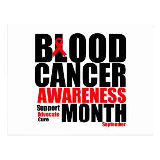 Mes 6 de la conciencia del cáncer de sangre tarjeta postal
