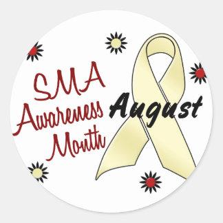 Mes agosto 1,1 de la conciencia de SMA Etiqueta Redonda