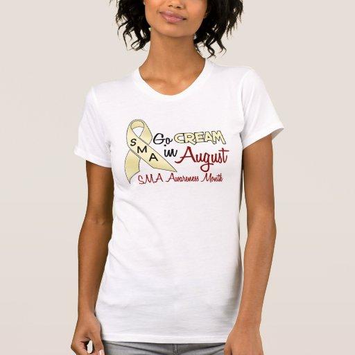 Mes agosto 1,2 de la conciencia de SMA Camiseta