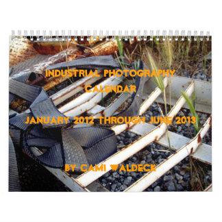 Mes-calendario industrial de la fotografía 18 calendarios de pared