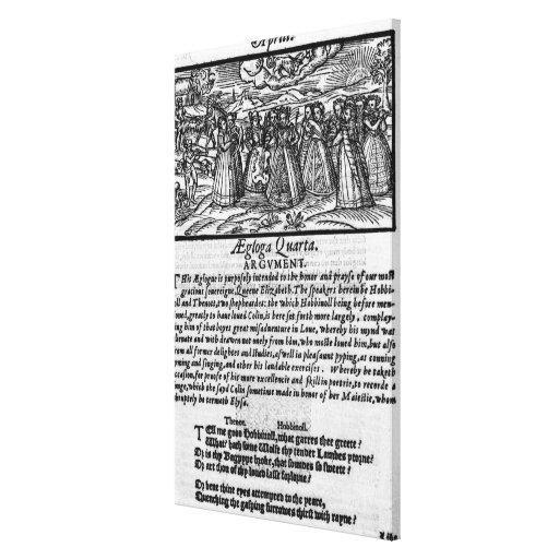 Mes de abril, 'del calendario de Shepheardes Impresión De Lienzo