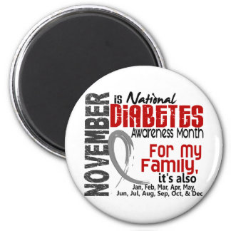 Mes de la conciencia de la diabetes cada mes para  imán de frigorifico