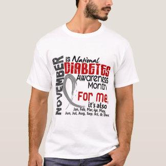 Mes de la conciencia de la diabetes cada mes para playera