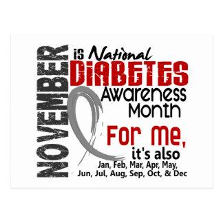 Mes de la conciencia de la diabetes cada mes para postales