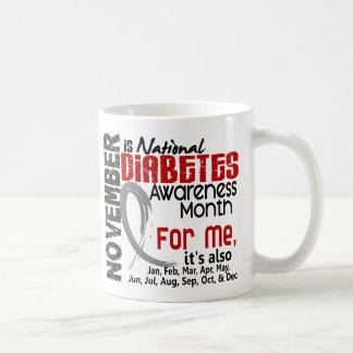 Mes de la conciencia de la diabetes cada mes para  tazas de café