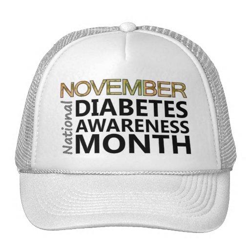 Mes de la conciencia de la diabetes de noviembre d gorros