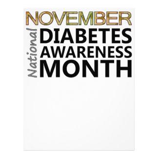 Mes de la conciencia de la diabetes de noviembre d membrete