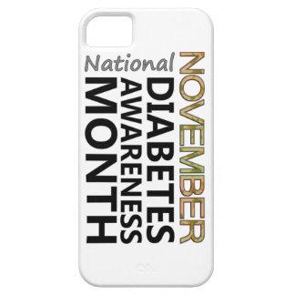 Mes de la conciencia de la diabetes de noviembre iPhone 5 Case-Mate carcasas