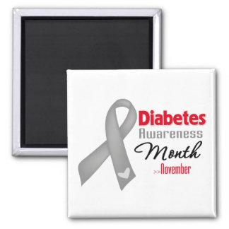 Mes de la conciencia de la diabetes imán para frigorifico