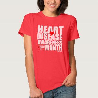 Mes de la conciencia de la enfermedad cardíaca polera