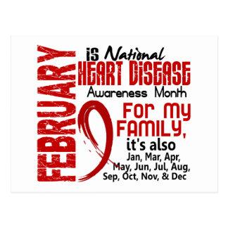 Mes de la conciencia de la enfermedad cardíaca tarjeta postal