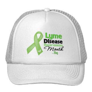 Mes de la conciencia de la enfermedad de Lyme Gorros Bordados