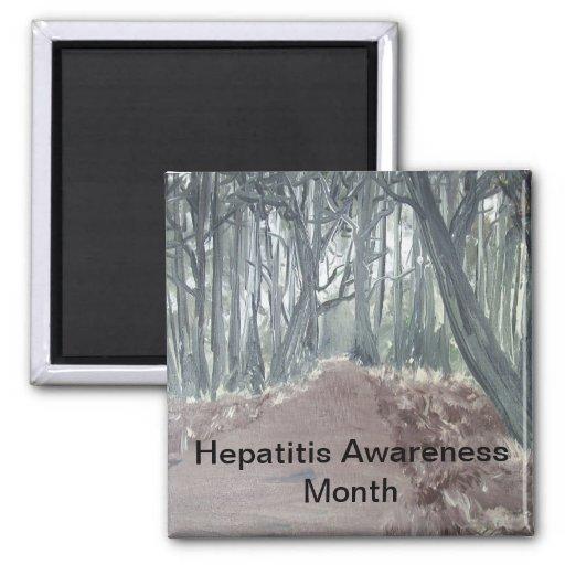 Mes de la conciencia de la hepatitis iman de nevera