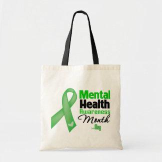 Mes de la conciencia de la salud mental bolsas