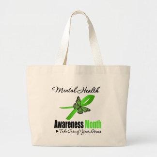 Mes de la conciencia de la salud mental bolsas de mano