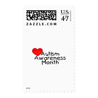 Mes de la conciencia del autismo (Hrt) Estampilla