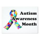Mes de la conciencia del autismo invitacion personalizada
