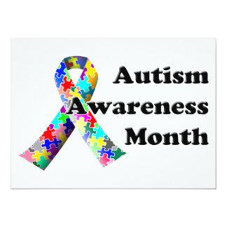 """Mes de la conciencia del autismo invitación 5.5"""" x 7.5"""""""