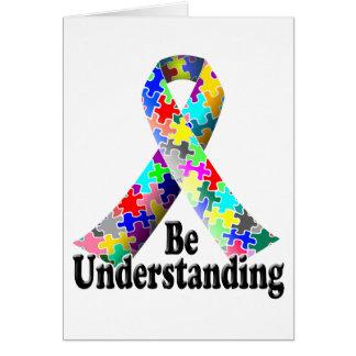 Mes de la conciencia del autismo tarjeta pequeña