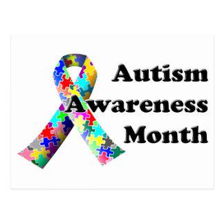Mes de la conciencia del autismo tarjeta postal