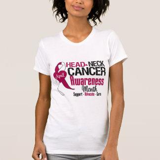 Mes de la conciencia del cáncer de cabeza y cuello camisas
