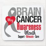 Mes de la conciencia del cáncer de cerebro alfombrilla de ratones