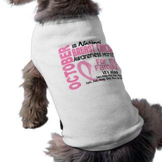 Mes de la conciencia del cáncer de pecho para mi f camisetas de mascota