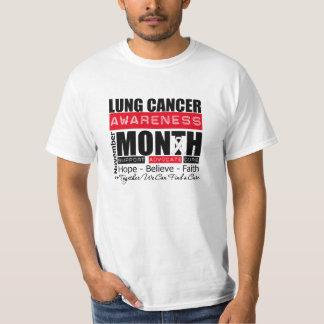 Mes de la conciencia del cáncer de pulmón de playeras