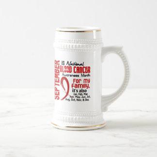 Mes de la conciencia del cáncer de sangre para mi jarra de cerveza