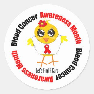 Mes de la conciencia del cáncer de sangre etiqueta redonda