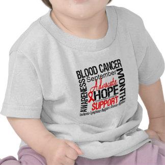 Mes de la conciencia del cáncer de sangre camisetas