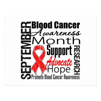Mes de la CONCIENCIA del cáncer de sangre Tarjetas Postales