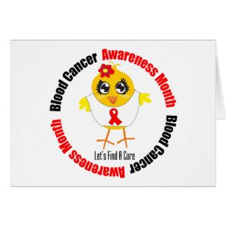 Mes de la conciencia del cáncer de sangre tarjetón