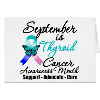 Mes de la CONCIENCIA del cáncer de tiroides de sep Tarjeta De Felicitación