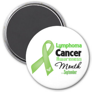 Mes de la conciencia del cáncer del linfoma imán redondo 7 cm
