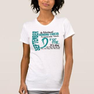 Mes de la conciencia del cáncer ovárico cada mes camisas