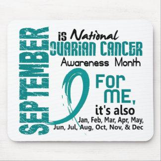 Mes de la conciencia del cáncer ovárico cada mes p tapete de ratones