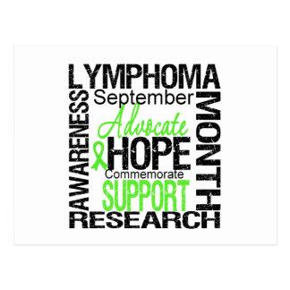 Mes de la conciencia del linfoma conmemorativo tarjetas postales