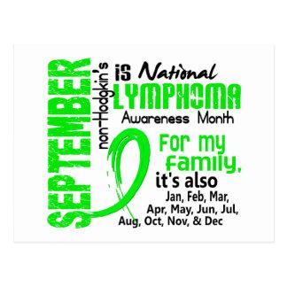 Mes de la conciencia del linfoma Non-Hodgkin mi Postal
