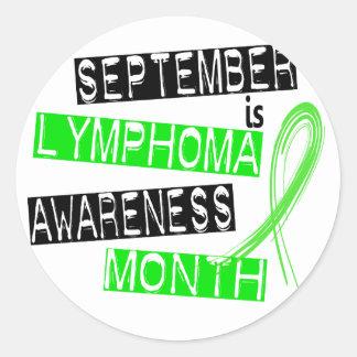 Mes de la conciencia del linfoma pegatina redonda