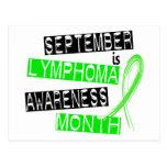 Mes de la conciencia del linfoma tarjetas postales