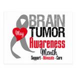 Mes de la conciencia del tumor cerebral postales